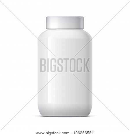 Realistic Plastic Jar With Lid
