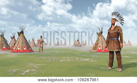 Plains Indians and Indian Camp