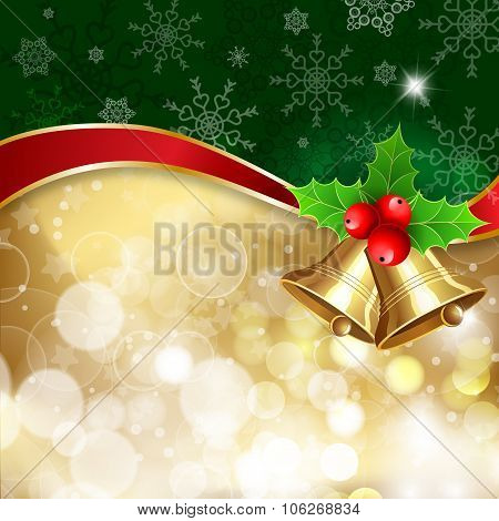 Christmas Background With Handwritten Text «merry ?hristmas»