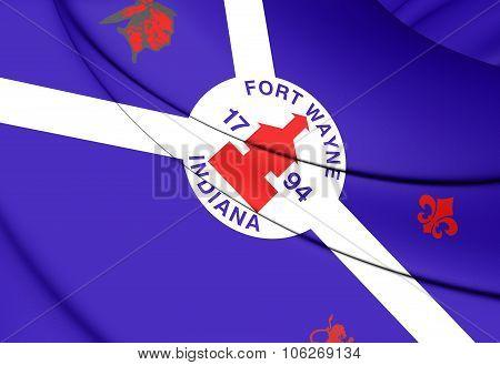 Flag Of Fort Wayne (Indiana), USA