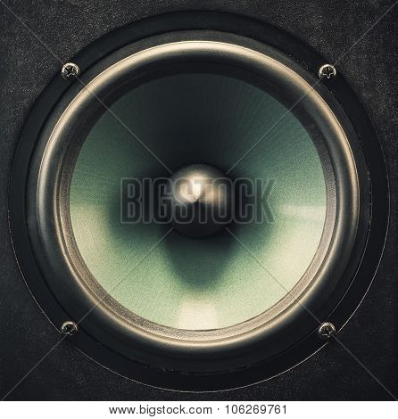 Woofer Speaker Closeup