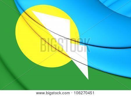 Flag Of Montes Claros (minas Gerais State), Brazil.