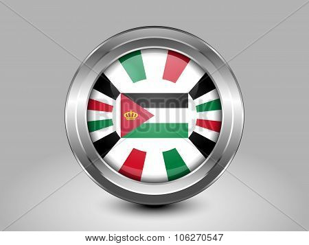 Jordan Variant Flag. Metal Round Icon
