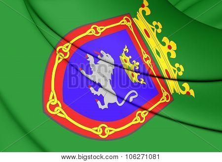 Flag Of Pamplona (navarre), Spain.