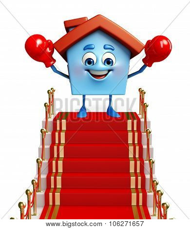 House Character With Red Carpet