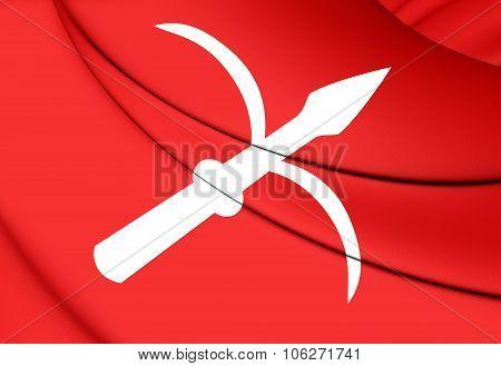 Flag Of Trieste (friuli-venezia Giulia), Italy.