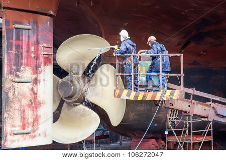 Ship Cleaning Dock
