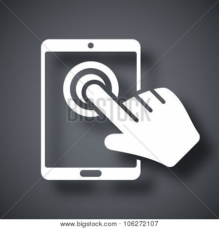 Touch Screen Tablet Icon, Vector