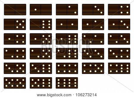 Wooden Dominoes Set