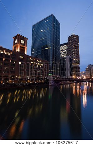 Architecture By Chicago River