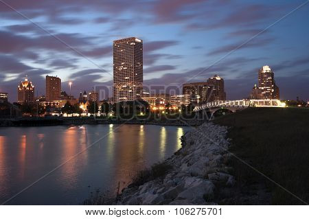 Milwaukee Sunset Panorama