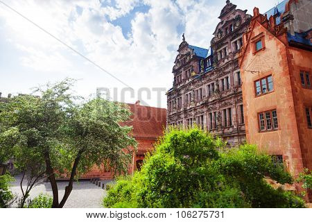 Inner part of beautiful Heidelberg castle