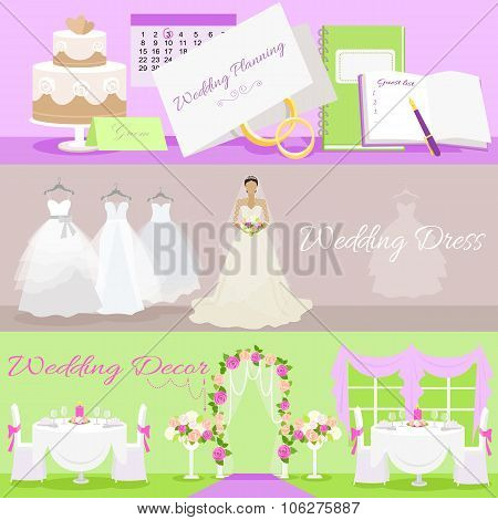 Wedding Planning Dress and Decor Concept