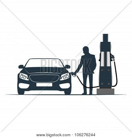 car, fuelling, transport, gas station