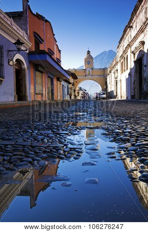 Streets Of Antigua After Rain.