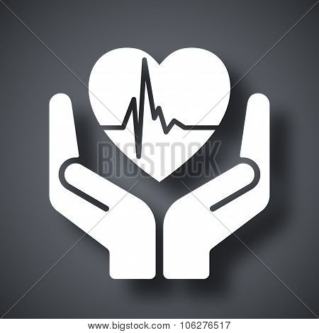 Vector Fragile Heart Sign