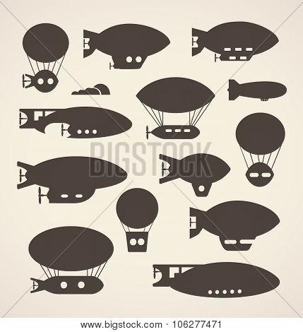 silhouettes  balloon