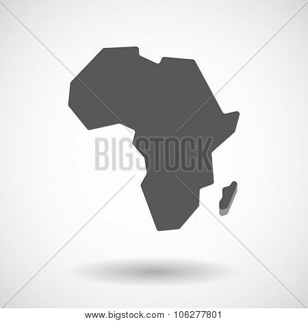 Illustration Of  A Map Of The African Continent