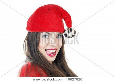 Happy Female Santa