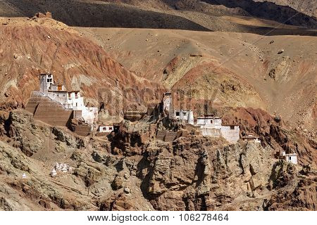 Ruins At Basgo Monastery, Leh, Ladakh, Jammu And Kashmir, India