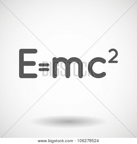 Illustration Of The Theory Of Relativity Formula