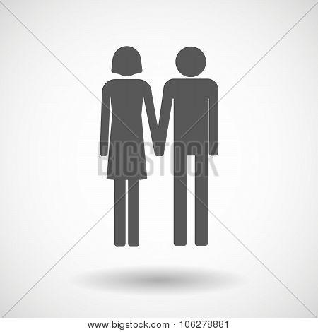 Illustration Of A Heterosexual Couple Pictogram