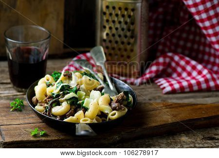 Pasta With Swiss Chard