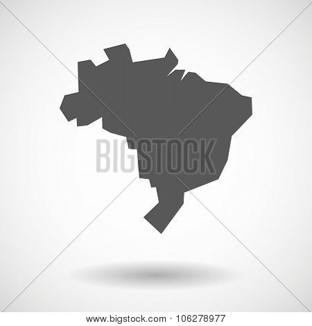 Illustration Of  A Map Fo Brazil