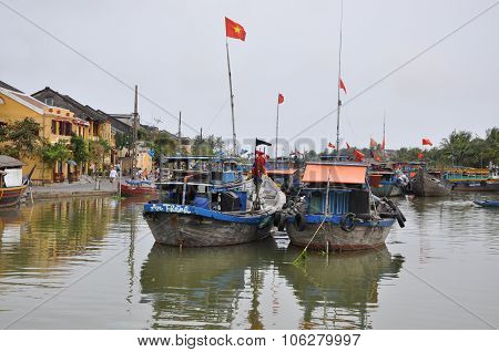 The Trading Port Of Hoi An City, Vietnam