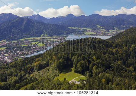 View From Riederstein Mountain To Rottach-egern And Lake Tegernsee