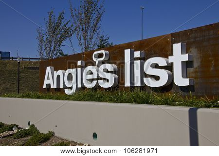 INDIANAPOLIS - CIRCA OCTOBER 2015: Angie's List Corporate Office and Headquarters I