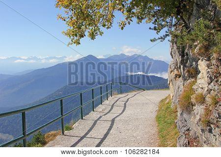 Mountain Promenade Way In The Alps