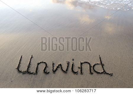 Unwind Written in the Sand