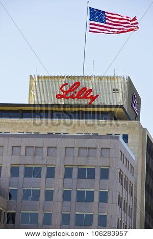 INDIANAPOLIS - CIRCA OCTOBER 2015: Eli Lilly and Company World Headquarters Indianapolis IN I