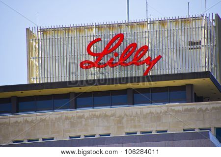 INDIANAPOLIS - CIRCA OCTOBER 2015: Eli Lilly and Company World Headquarters Indianapolis IN III