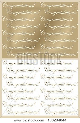 Gold and White Congratulations Backgrounds