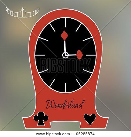 Alice Clocks From Wonderland World