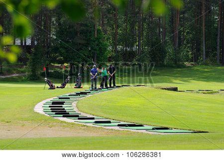 Training in Golf.
