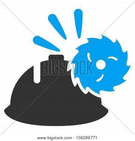Circular Blade Head Protection Icon