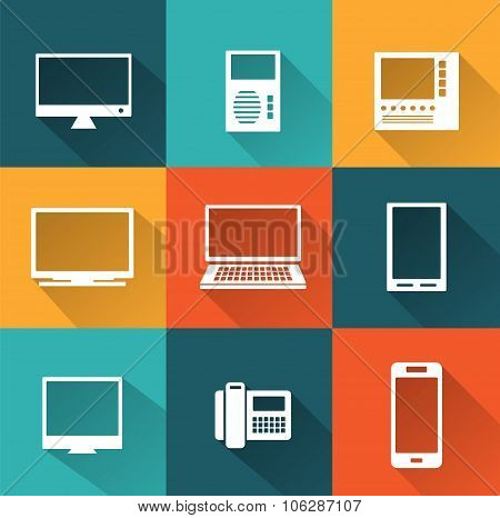 Icons of  computers