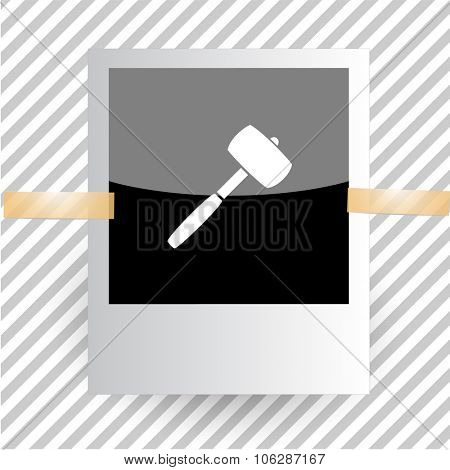mallet. Photoframe. Vector icon.