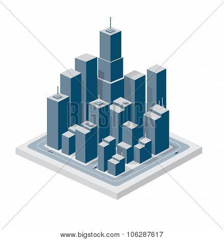 Business isometric