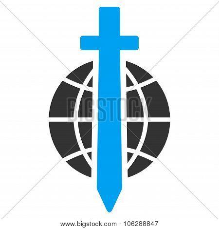 Sword Globe Icon