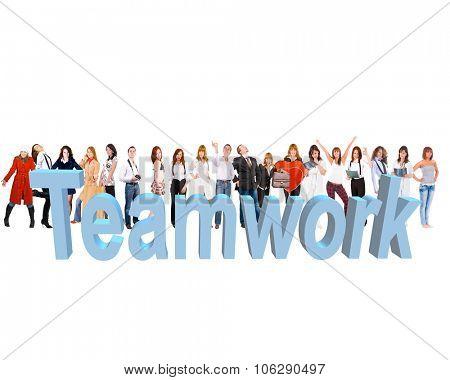 Sample Design Colorful Teammates