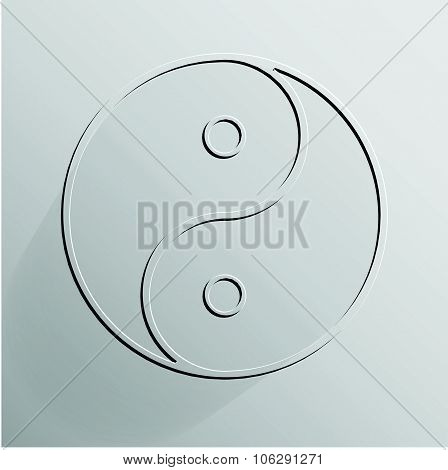 Yin Yang transparent