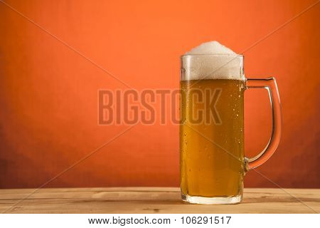 Cold glass of beer