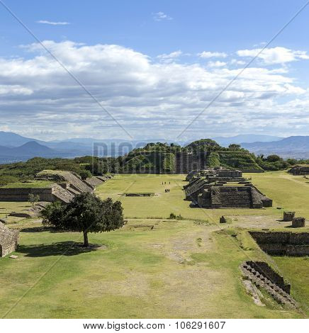 Monte Alban Archaeological Site, Oaxaca, Mexico