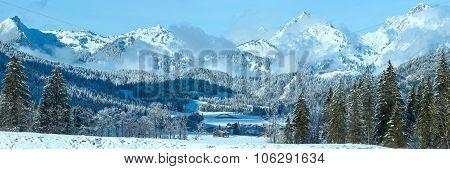 Winter Mountain Panorama (austria, Tirol)