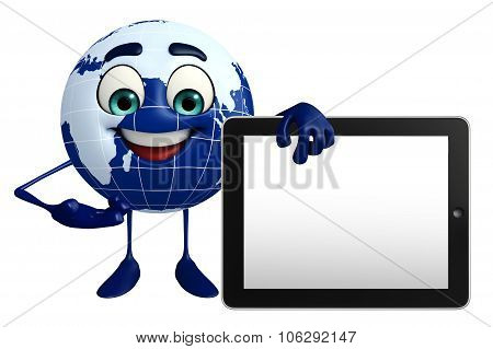 Earth Character With Tab
