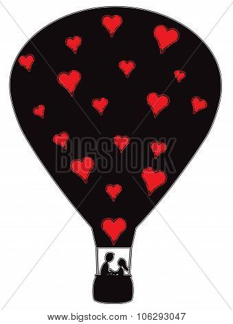 Hot Air Balloon With Hearts